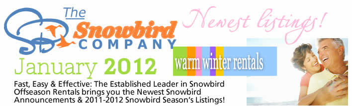 Snowbird Rentals - Monthly & Offseason Winter Rental Rates