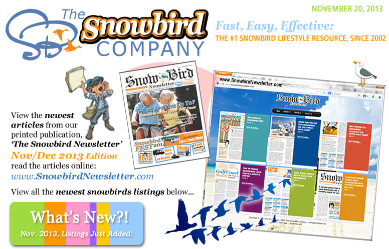 Click to read articles on www.SnowbirdNewsletter.com