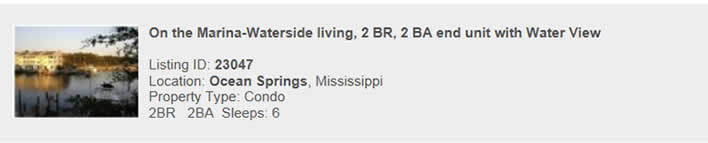 See this rental listing on MississippiSnowbird.com