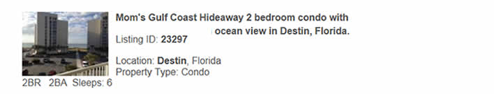 Destin, FL Rental