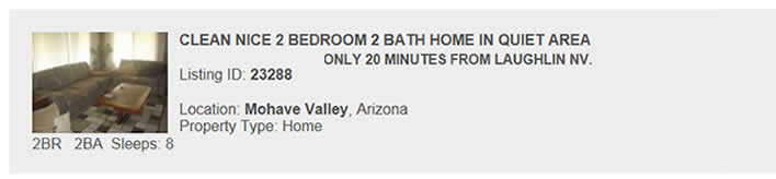 Mohave Valley, AZ Rental
