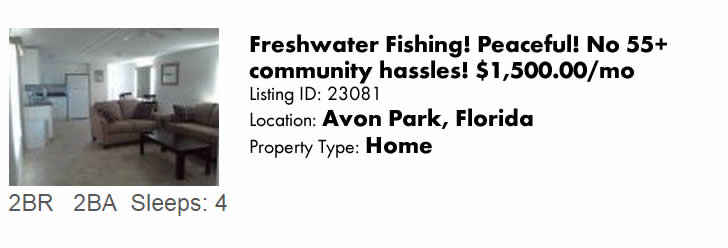 Click to view this Avon Park, Florida Vacation Rental on FloridaSnowbird.com