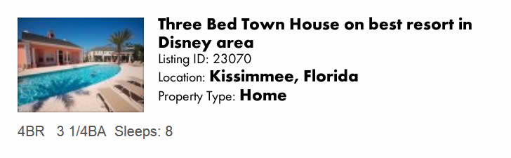 Another great beach rental in Kissimmee, FL - see it at FloridaSnowbird.com