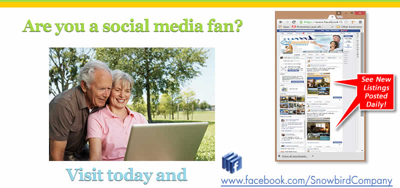 Visit our Facebook page & 'Like' us for more updates on Snowbird Rentals!