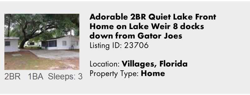 View this Villages of Florida Vacation Rental By Owner for Snowbird Rentals