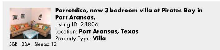 Click here to view this Snowbird Rental in Port Aransas, TX