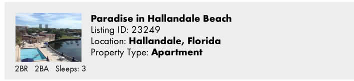 Click here to view this Snowbird Rental in Hallandale, FL