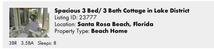 Click here to view this Snowbird Rental in Santa Rosa Beach, FL
