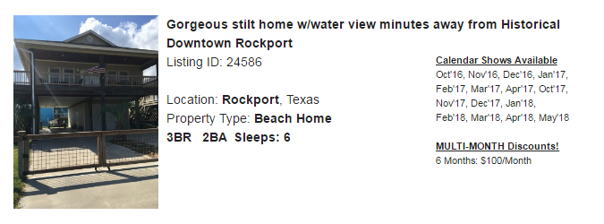 Rockport, Texas Snowbird Rental
